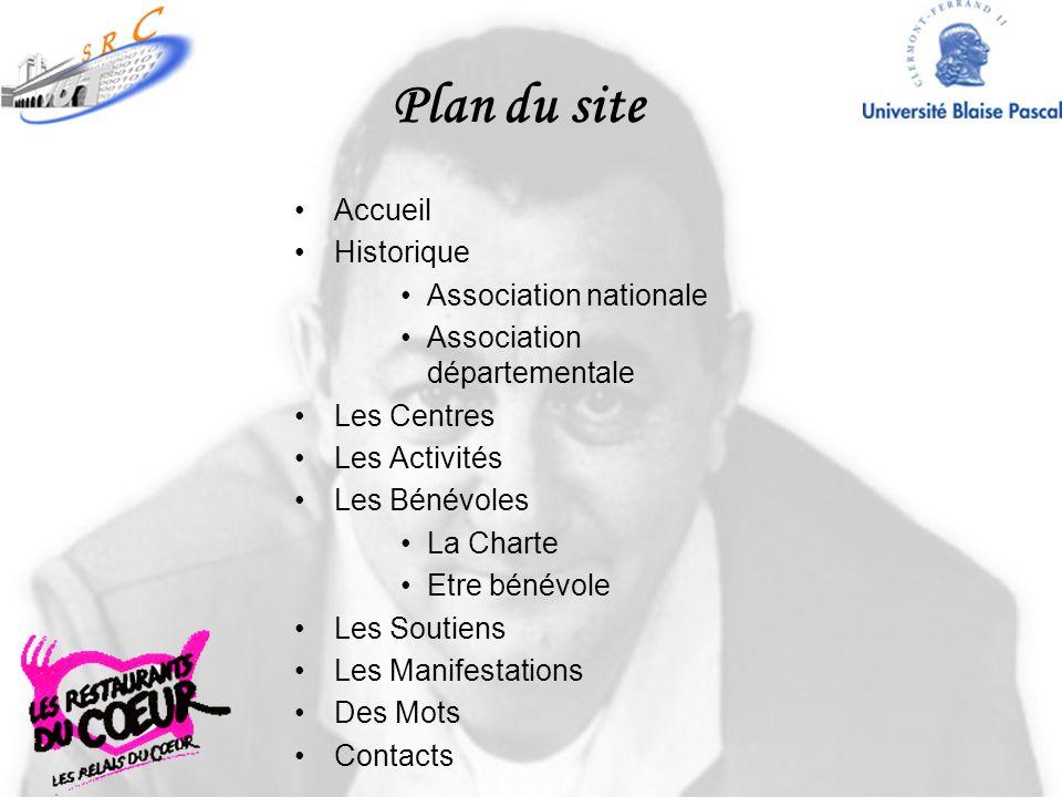 Plan du site Accueil Historique Association nationale
