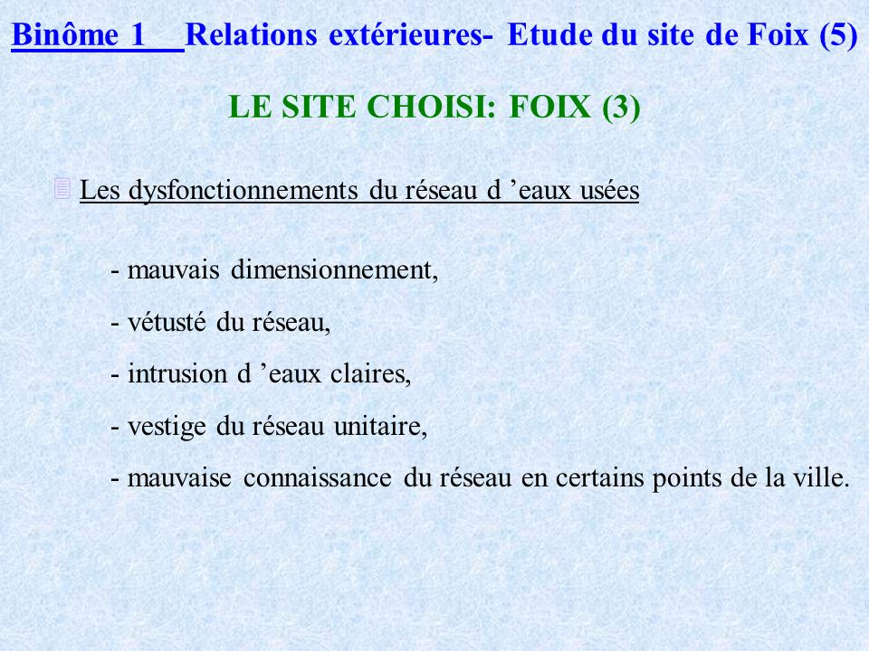 Binôme 1 Relations extérieures- Etude du site de Foix (5)