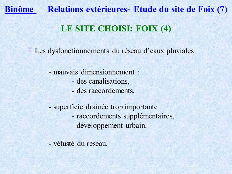 Binôme Relations extérieures- Etude du site de Foix (7)