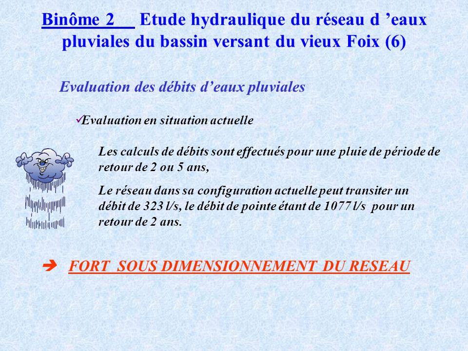 Binôme 2 Etude hydraulique du réseau d 'eaux pluviales du bassin versant du vieux Foix (6)