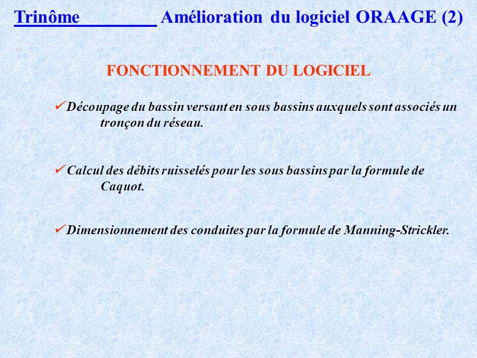 FONCTIONNEMENT DU LOGICIEL
