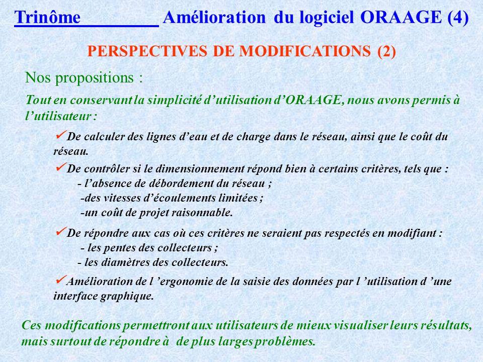 Trinôme Amélioration du logiciel ORAAGE (4)