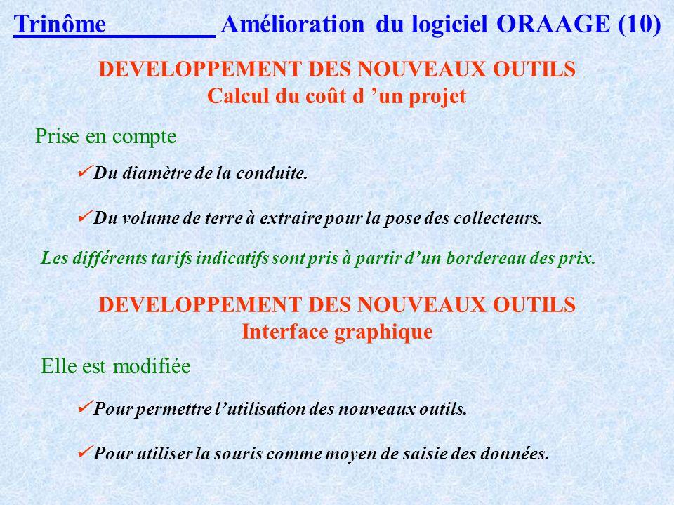 Trinôme Amélioration du logiciel ORAAGE (10)