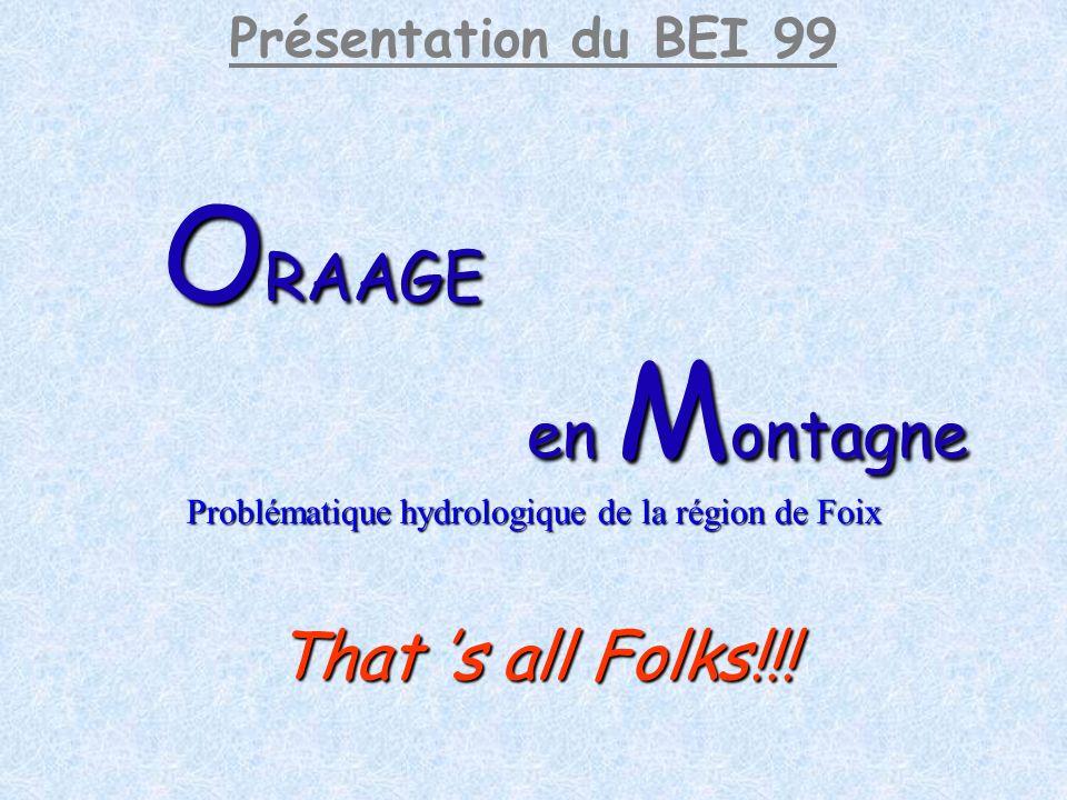 Problématique hydrologique de la région de Foix