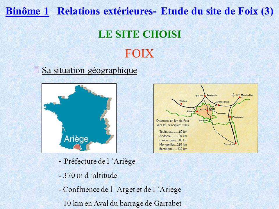 Binôme 1 Relations extérieures- Etude du site de Foix (3)