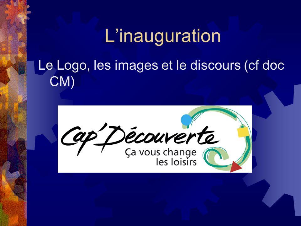L'inauguration Le Logo, les images et le discours (cf doc CM)