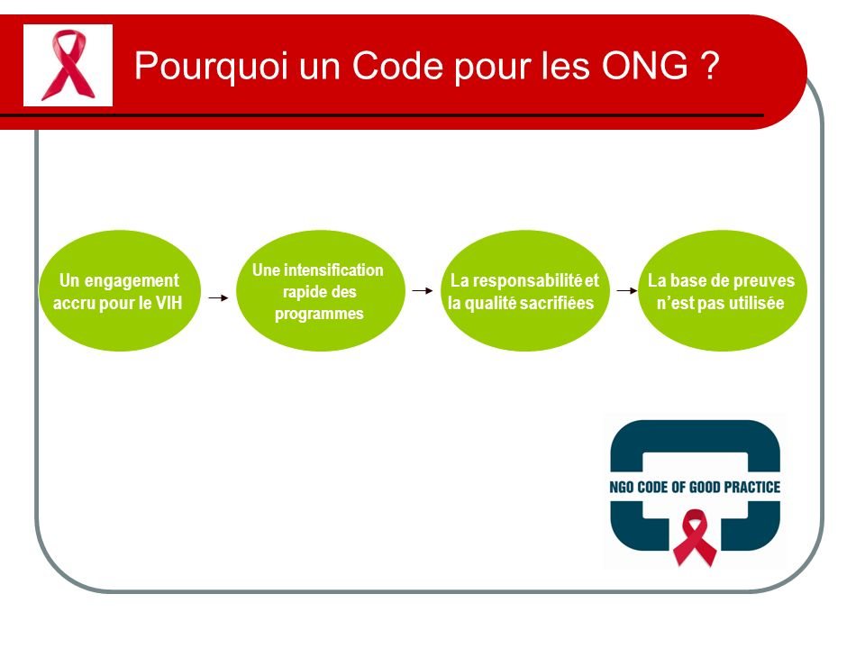 Pourquoi un Code pour les ONG