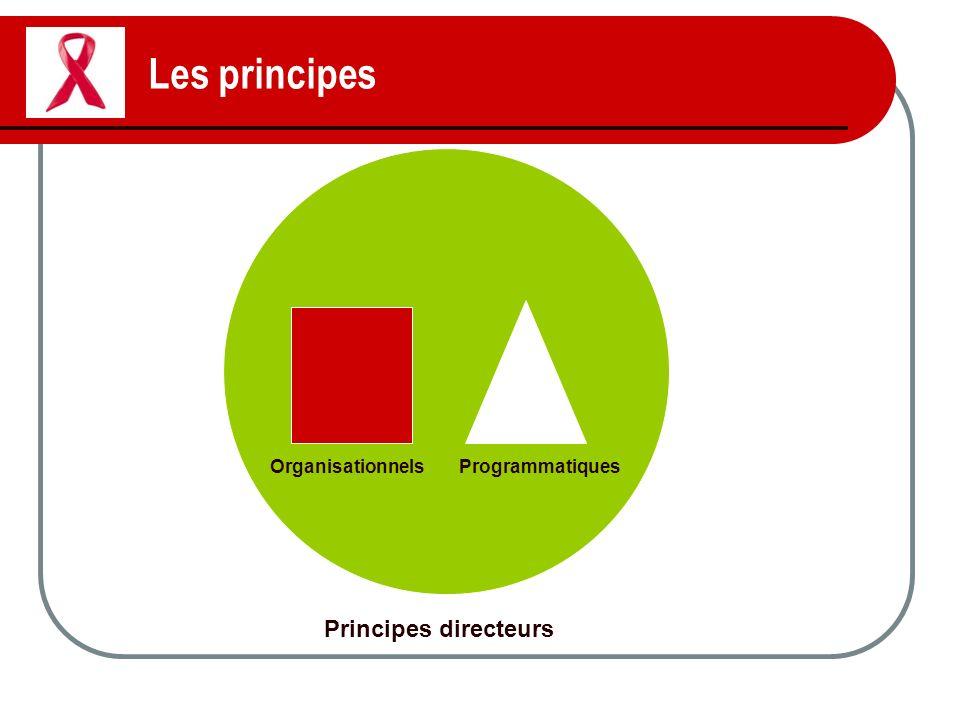Les principes Principes directeurs Organisationnels Programmatiques