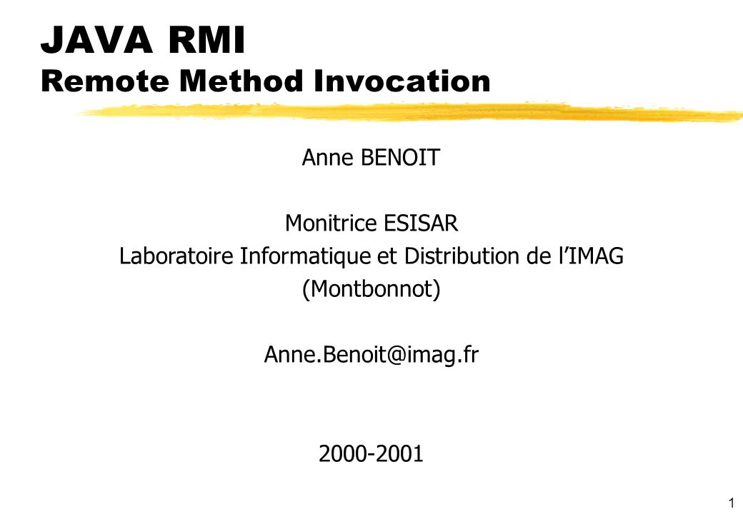 JAVA RMI Remote Method Invocation