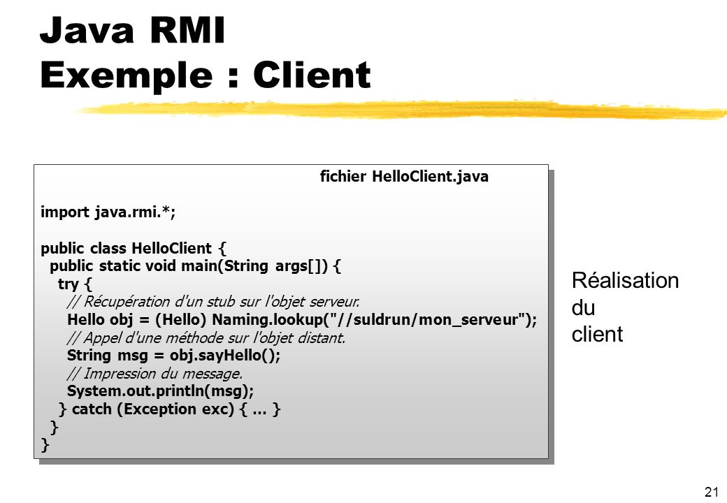 Java RMI Exemple : Client