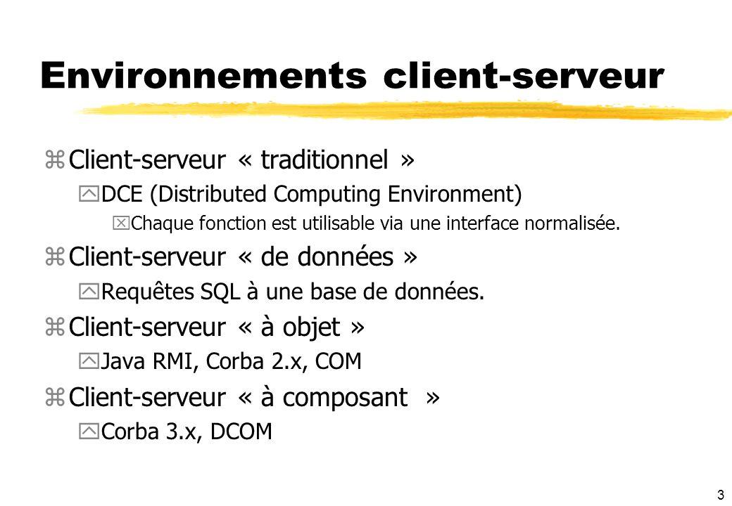 Environnements client-serveur