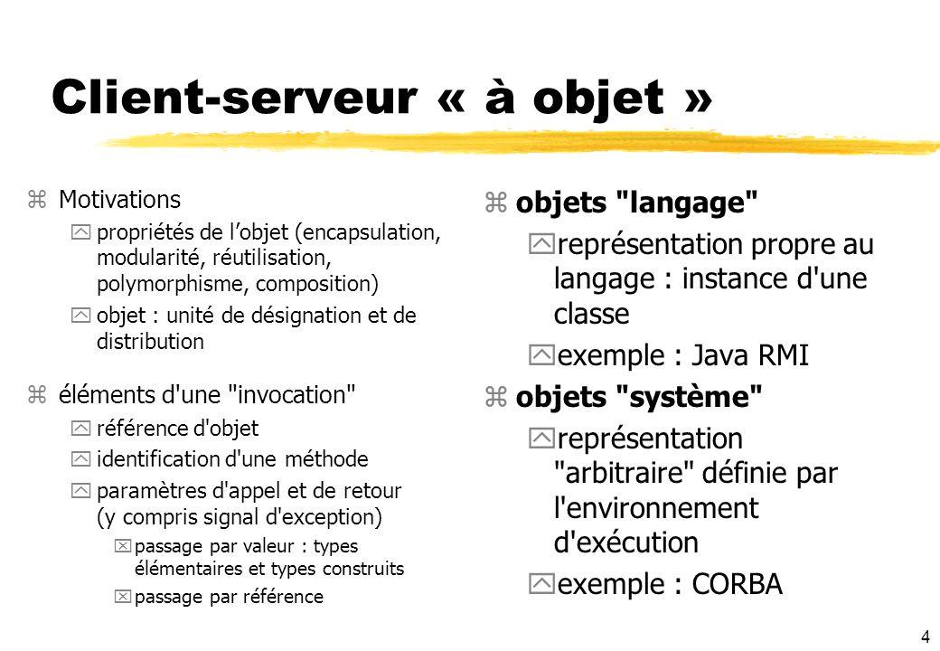 Client-serveur « à objet »