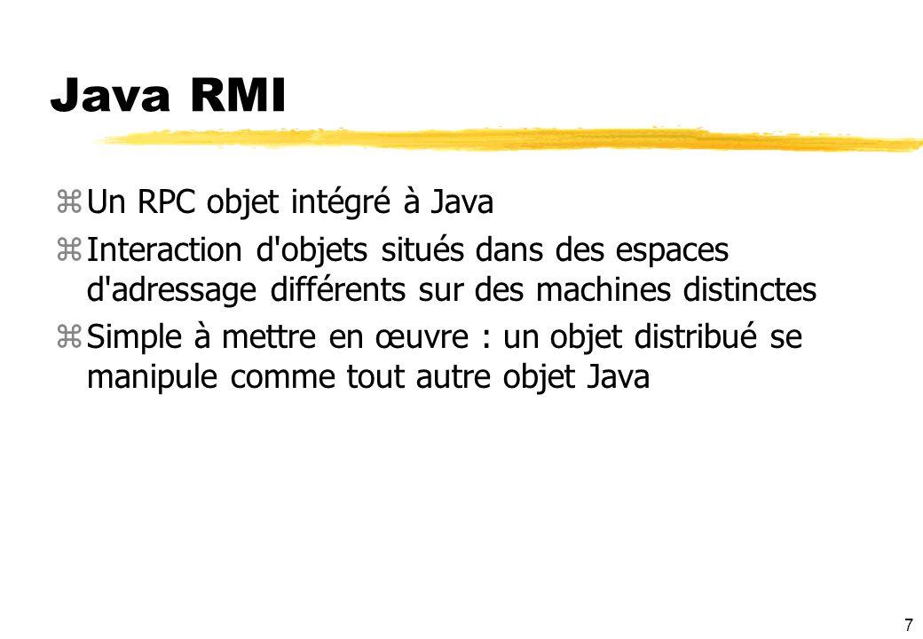 Java RMI Un RPC objet intégré à Java