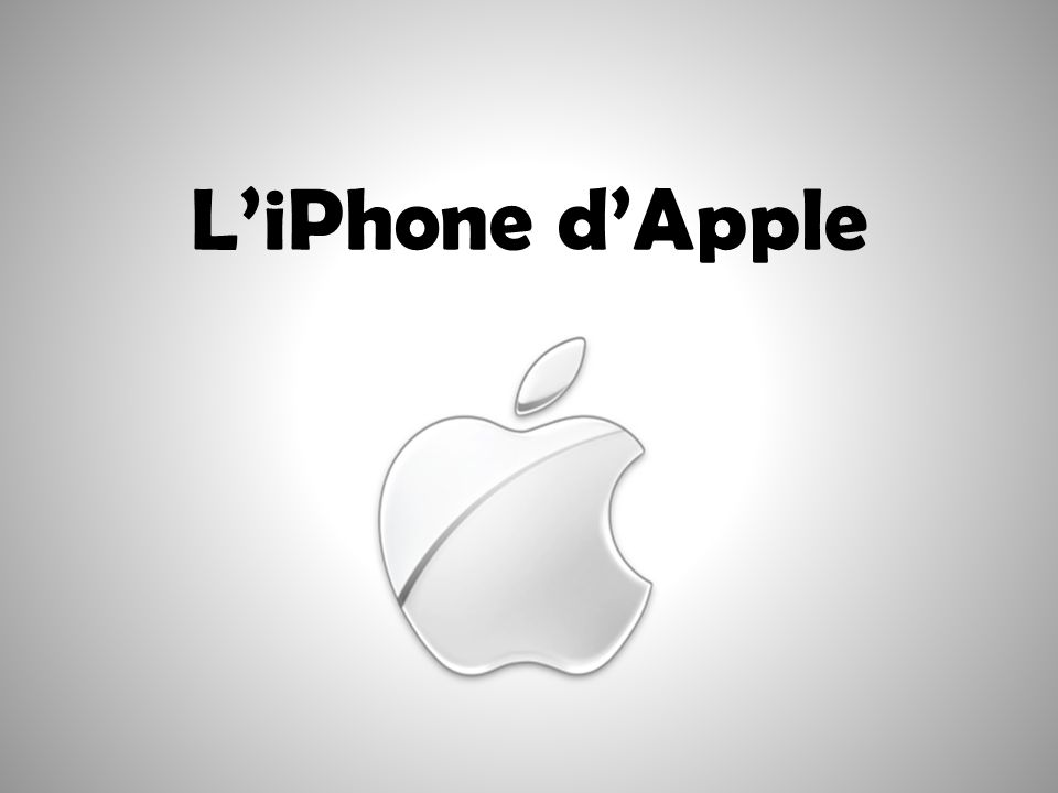 L'iPhone d'Apple 1 1