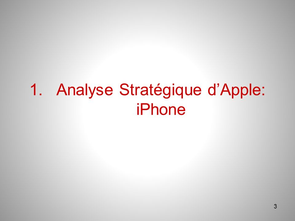 1. Analyse Stratégique d'Apple: iPhone