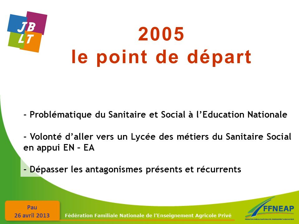 2005 le point de départ. - Problématique du Sanitaire et Social à l'Education Nationale.