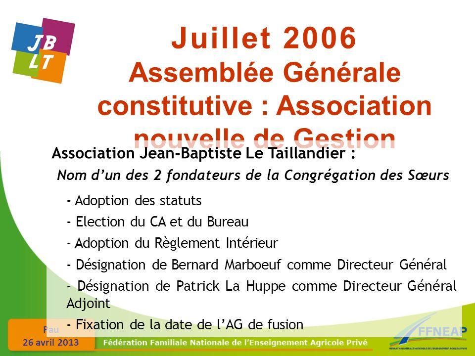 Assemblée Générale constitutive : Association nouvelle de Gestion