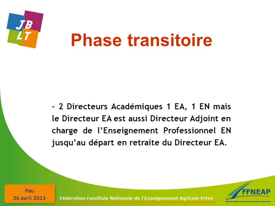 Phase transitoire