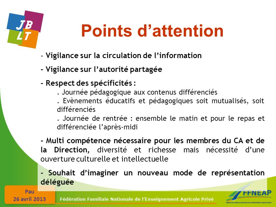Points d'attention - Vigilance sur la circulation de l'information