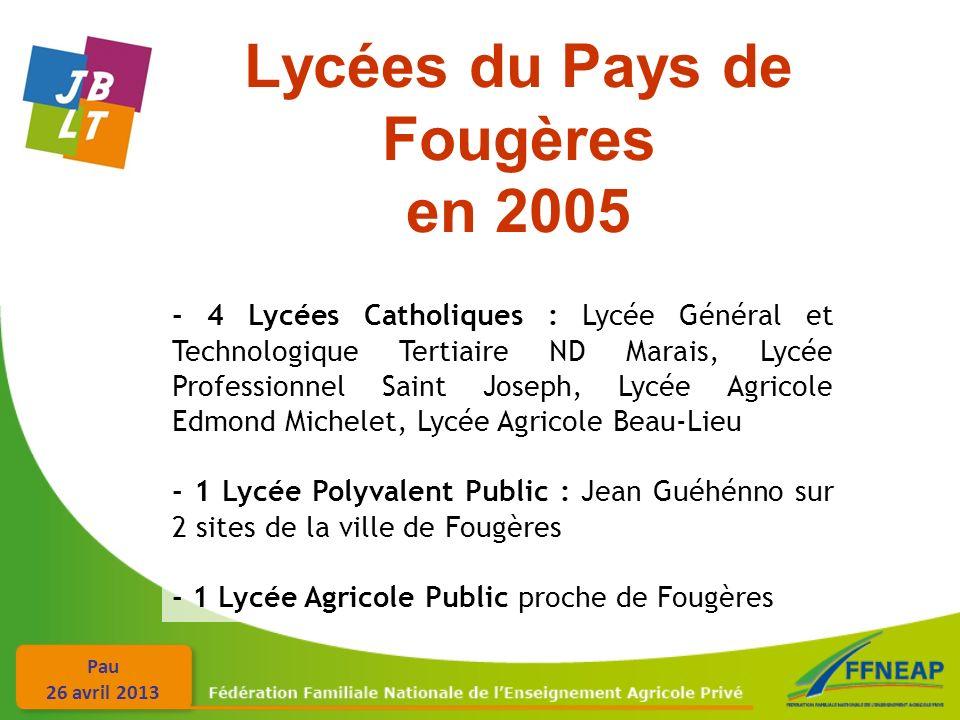 Lycées du Pays de Fougères en 2005