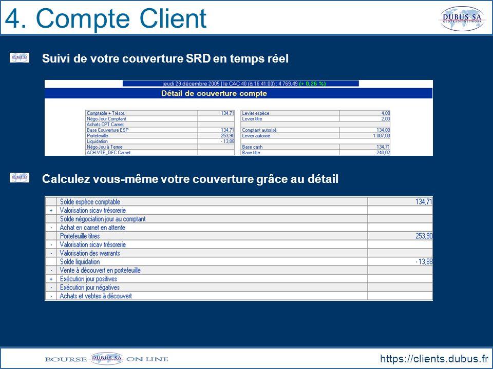 4. Compte Client Suivi de votre couverture SRD en temps réel