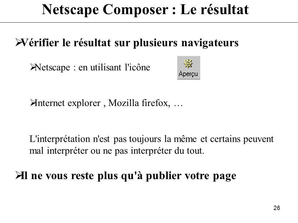 Netscape Composer : Le résultat