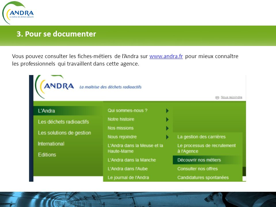 3. Pour se documenter