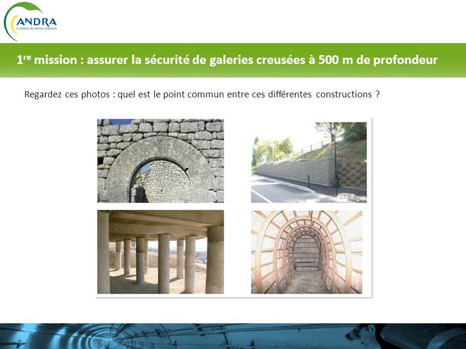 1re mission : assurer la sécurité de galeries creusées à 500 m de profondeur