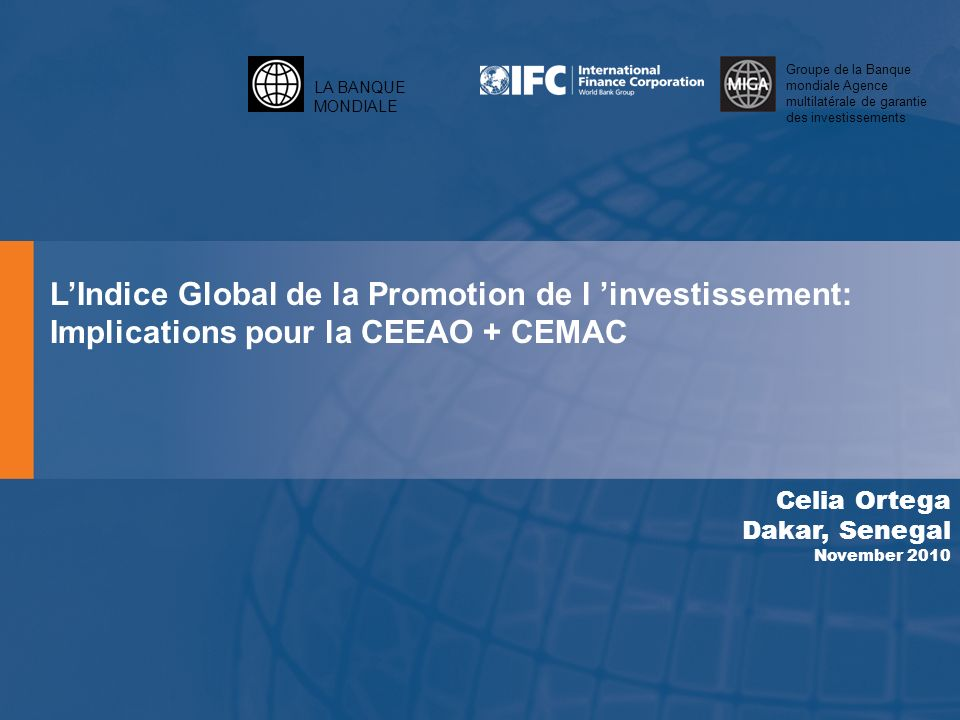 L'Indice Global de la Promotion de l 'investissement: