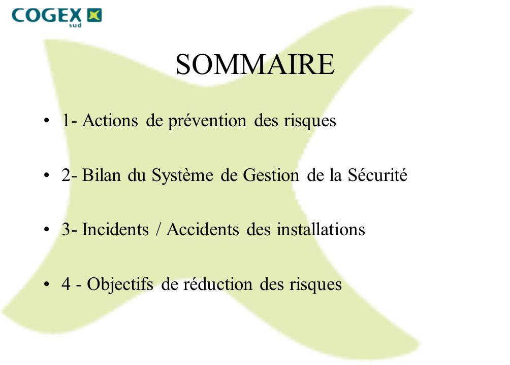 SOMMAIRE 1- Actions de prévention des risques