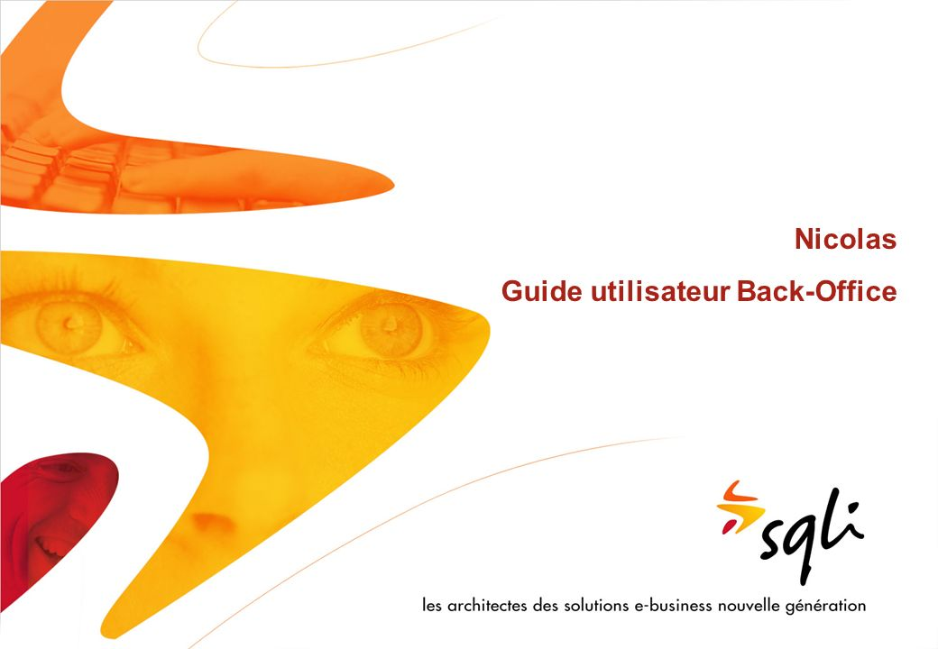 Nicolas Guide utilisateur Back-Office