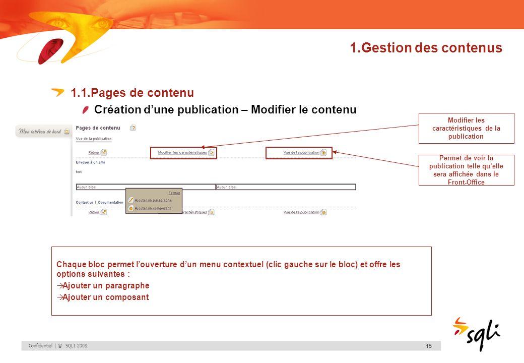 Modifier les caractéristiques de la publication