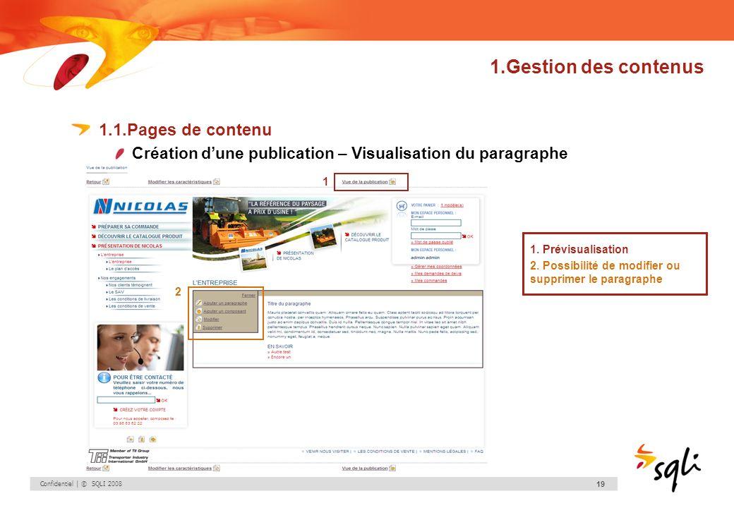 1.Gestion des contenus 1.1.Pages de contenu