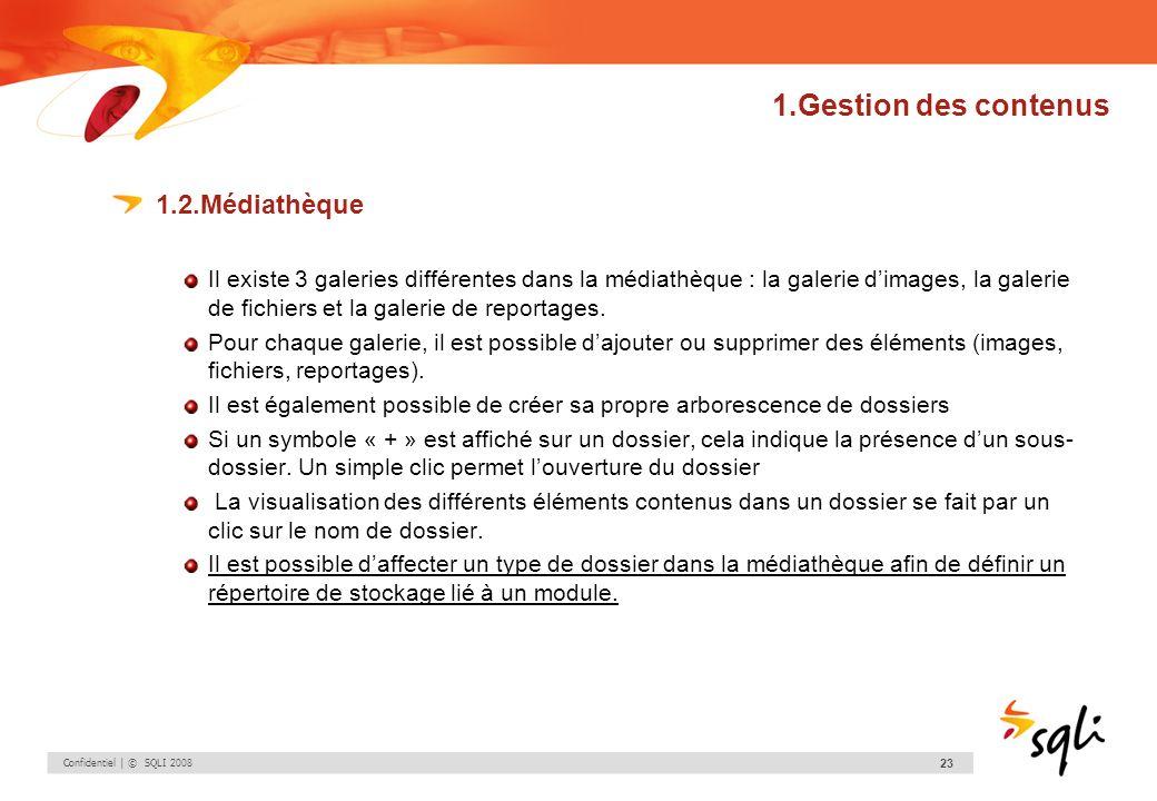 1.Gestion des contenus 1.2.Médiathèque