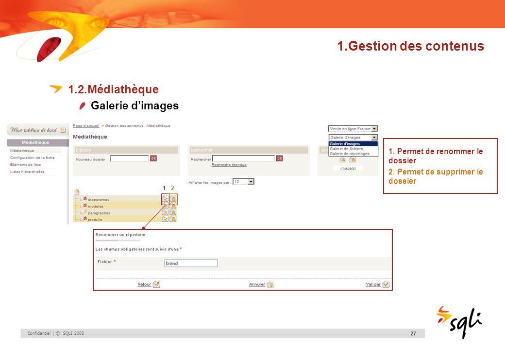 1.Gestion des contenus 1.2.Médiathèque Galerie d'images