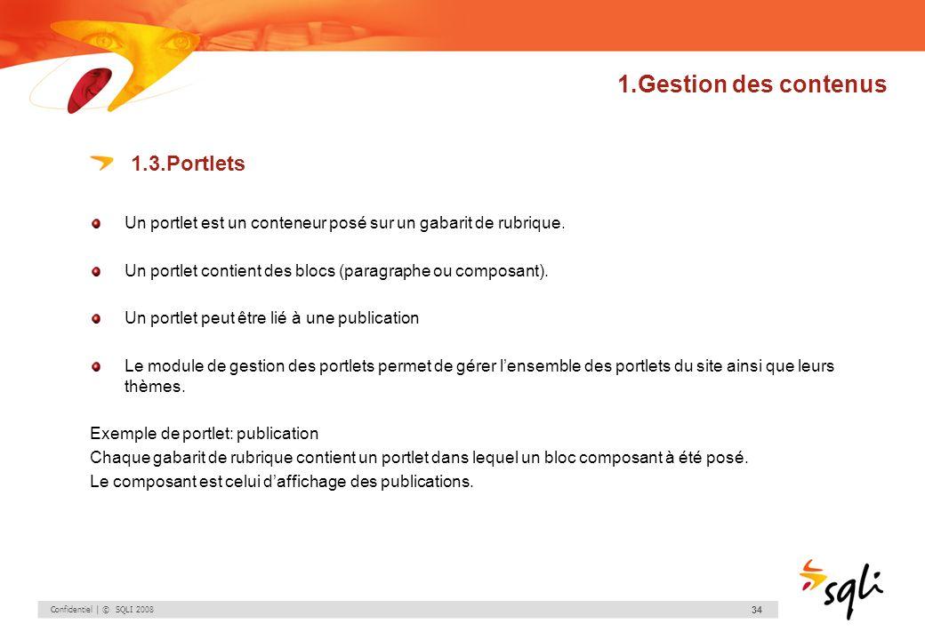 1.Gestion des contenus 1.3.Portlets