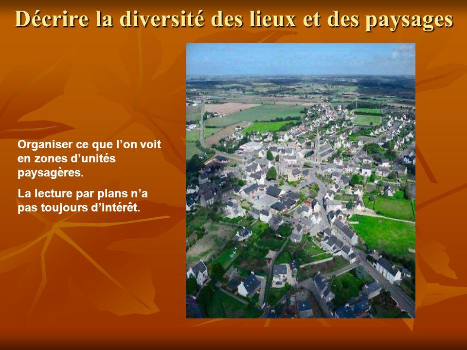 Décrire la diversité des lieux et des paysages