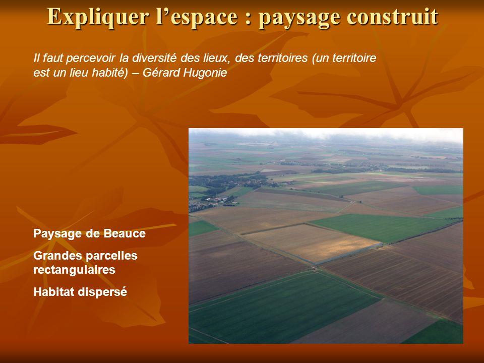 Expliquer l'espace : paysage construit