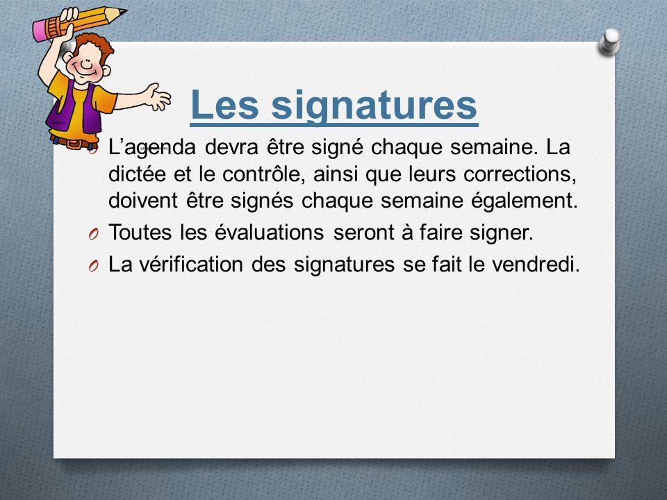 Les signatures