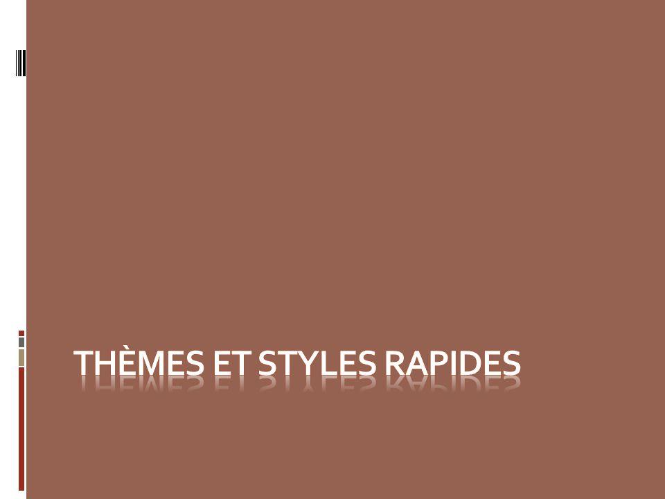 Thèmes et styles rapides