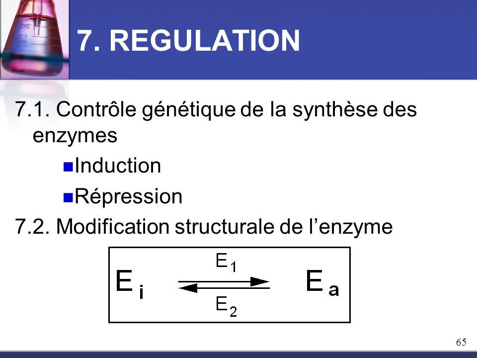 7. REGULATION 7.1. Contrôle génétique de la synthèse des enzymes