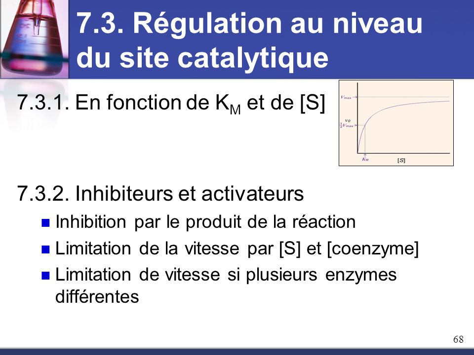 7.3. Régulation au niveau du site catalytique