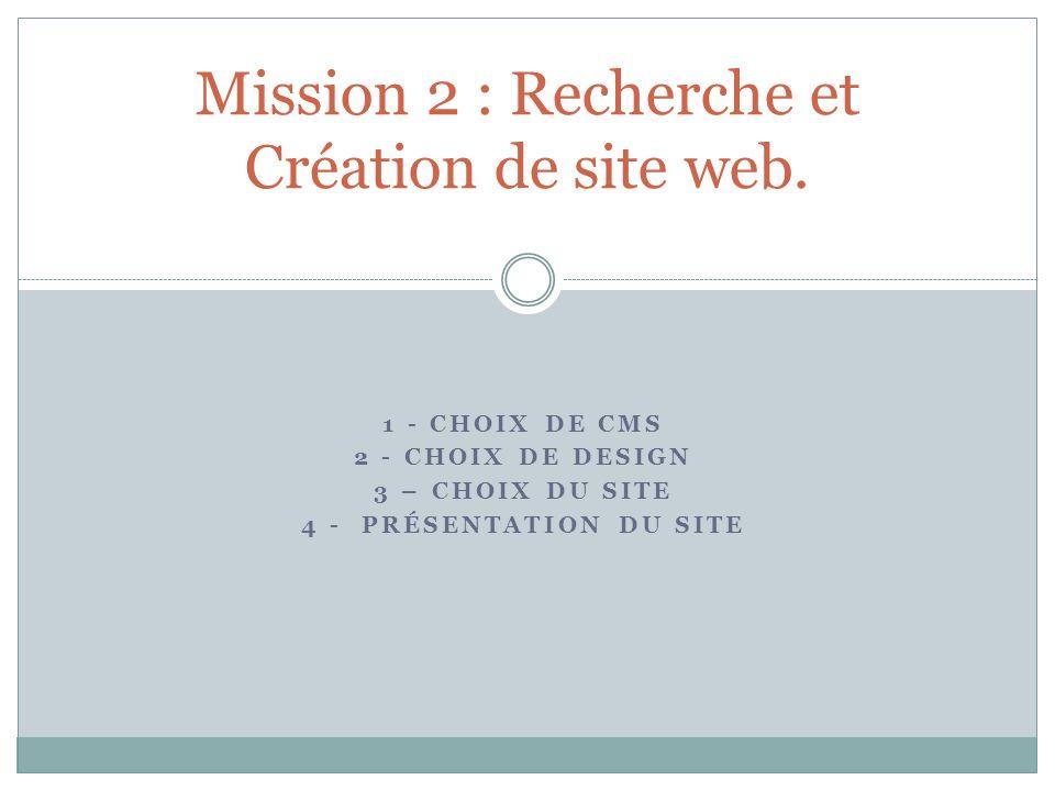 Mission 2 : Recherche et Création de site web.