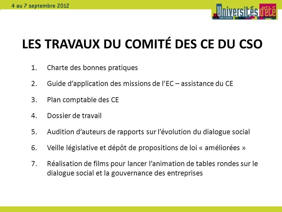 Les travaux du Comité des CE du CSO