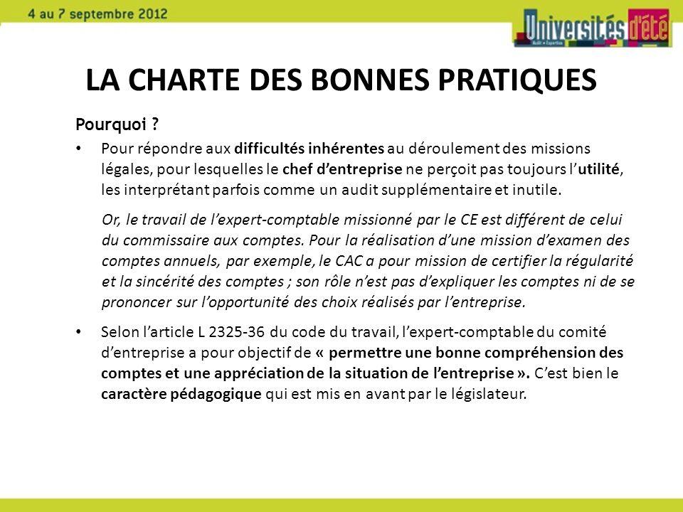 La Charte des bonnes pratiques