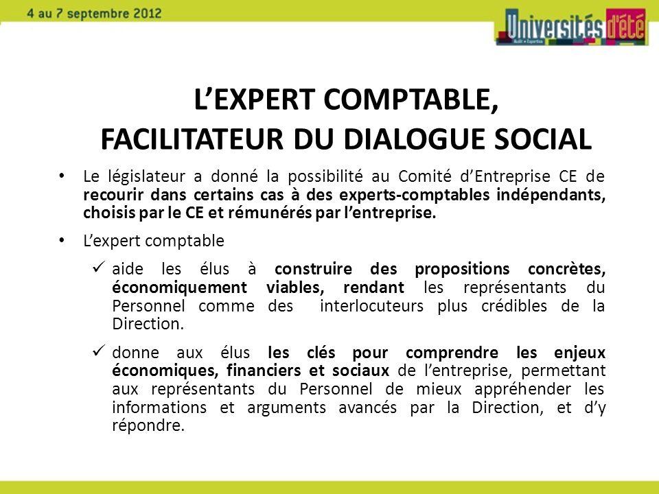 L'Expert Comptable, facilitateur du dialogue social