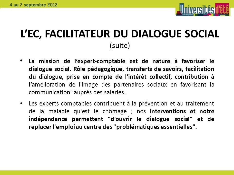 L'EC, facilitateur du dialogue social (suite)