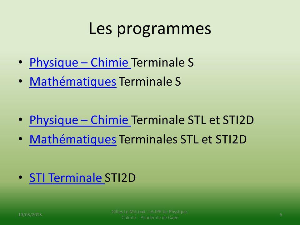 Gilles Le Moroux - IA-IPR de Physique-Chimie - Académie de Caen
