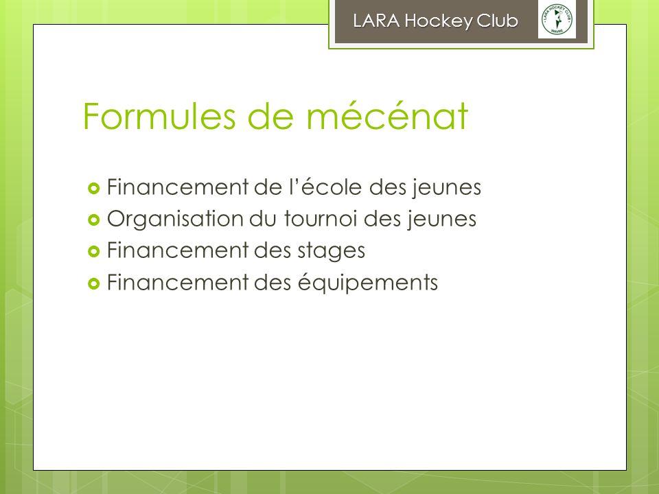 Formules de mécénat Financement de l'école des jeunes
