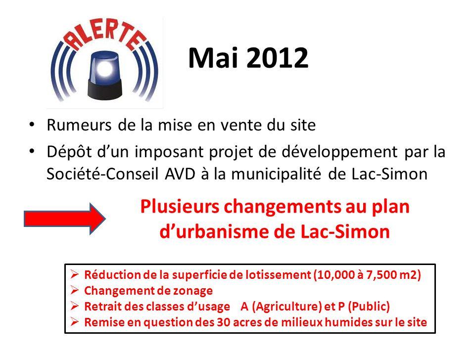 Plusieurs changements au plan d'urbanisme de Lac-Simon